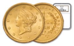1852-P Gold Liberty Dollar Type 1 NGC MS68