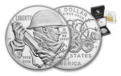 2018-P 1 Dollar Silver World War I Centennial Proof
