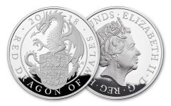 2018 Great Britain Kilo Silver Queen's Beasts Dragon Proof