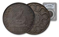 1787 Fugio New Haven Silver Restrike PCGS MS62