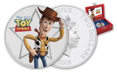 2018 2 Dollar 1-oz Silver Toy Story Woody Proof