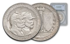 1936-P 50 Cent Gettysburg NGC/PCGS MS64 With Note