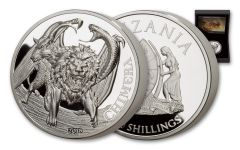 2018 Tanzania 2 Ounce Silver Chimera Ultra High Relief Proof
