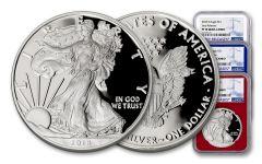 2018-W 1 Dollar 1-oz Silver Eagle NGC PF70UCAM ER - Red White Blue 3pc Set