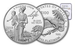 2018-W 100 Dollar 1-oz Platinum Eagle NGC PF70UCAM