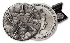 2018 Tuvalu 2-oz Silver Warfare Roman Legion High Relief Proof