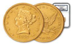 1842-P $10 Gold Liberty SS Republic NGC AU55