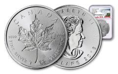 2018 Canada 1-oz Silver Incuse Maple Leaf NGC MS70 First Releases Canada Label