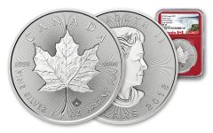 2018 Canada 1-Ounce $5 Silver Incuse Maple Leaf NGC MS70 Early Releases - Red Core