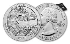 2018-P 25 Cent 5-oz Silver America The Beautiful Apostle Islands Specimen