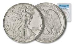 1941-45 50 Cent Walking Liberty Half Dollar PCGS MS64