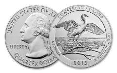2018-P Cumberland Island National Seashore 5-oz Silver Quarter America the Beautiful Specimen