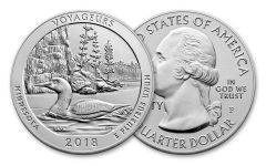 2018 Voyageurs National Park 5-Ounce Silver America the Beautiful Gem BU