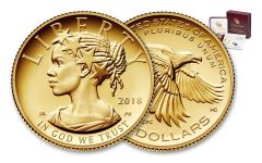 2018-W 10 Dollar 1/10-oz Gold Liberty High Relief Proof