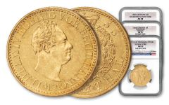 1833-1837 Germany/Denmark Gold Thaler 3 Piece Set NGC AU53-AU58 SS New York Shipwreck