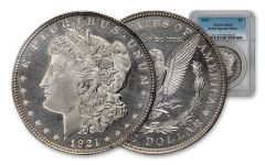 1921 Morgan Silver Dollar Zerbe PCGS SP63