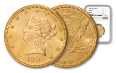 1901-S $10 Gold Liberty VP-001 NGC MS65