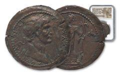107-108 A.D. Roman Bronze Trajan Medallion NGC XF