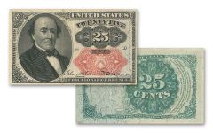 1874-1876 25 Cent Fractional Currency Note VF