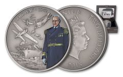 2018 Niue 1-oz Silver Battle Of Midway Antiqued Proof
