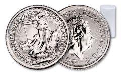 2018 Great Britain 10 pound 1/10-oz Platinum Britannia BU Mint Roll Vault Reserve 25pc
