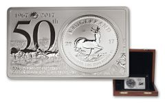 2017 South Africa Krugerrand 50th Anniversary Silver 2 Piece Set