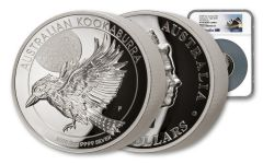 2018 Australia 5-Ounce $8 Silver Kookaburra High Relief NGC PF70UC First Releases - Australia Label