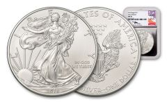 2018 1 Dollar 1-oz Silver Eagle NGC MS70 Early Releases Mercanti Signed - Silver