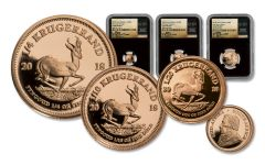 2018 South Africa Gold Krugerrand Mini Fractional Set Gem Proof First Day of Issue Tumi Signature