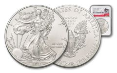 "2017-P ""Struck At"" 1 Ounce $1 Silver Eagle NGC MS69 FDI White Core"