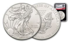 "2017-P ""Struck At"" 1 Ounce $1 Silver Eagle NGC MS69 FDI Black Core"