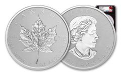 2018 Canada 3-oz Silver Incuse Maple Leaf Reverse Proof NGC PF70 First Day of Issue - Black