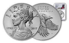 2017 American Liberty 225th Anniversary 1 Ounce Reverse Gem Proof Silver Medal