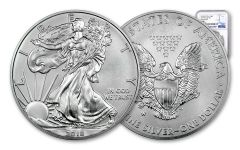 2018-W 1 Dollar 1-oz Burnished Silver Eagle NGC MS70 First Releases