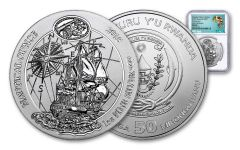 2018 Rwanda Nautical Ounce 250th Anniversay of HMS Endeavour 1-oz Silver NGC MS69 Early Releases - Exclusive Africa Label