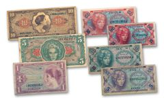 1965-1968 Vietnam Series 641 MPC 7-Piece Currency Note Collection