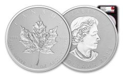 2018 Canada 3-oz Silver Incuse Maple Leaf Reverse Proof NGC PF70 First Day of Production- Black