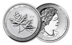 2018 Canada 50 Dollar 10-oz Silver Magnificent Maple Leaves BU