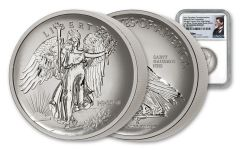2018 Saint Gaudens 1-oz Silver Winged Liberty NGC PF70 Mercanti Signed