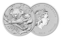 2018 Australia 2 Dollar 2-oz Silver Koala Piedfort Uncirculated