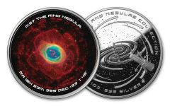 2018 Galaxies and Nebulae Spinners – Ring of Nebula 1 Ounce Colorized Silver Proof