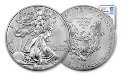 2018-W 1 Dollar 1-oz Burnished Silver Eagle NGC MS70 First Day Of Issue