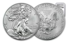 2018-W 1 Dollar 1-oz Burnished Silver Eagle NGC MS70 First Day Of Issue Silver Foil Label