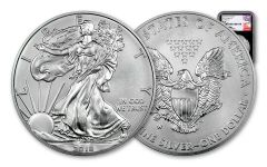 2018-W 1 Dollar 1-oz Burnished Silver Eagle NGC MS70 First Releases Mercanti Signed - Black
