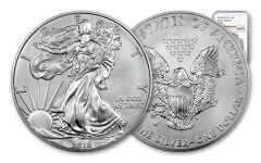 2018-W 1 Dollar 1-oz Burnished Silver Eagle NGC MS70