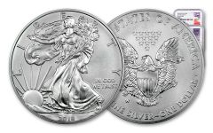 2018-W 1 Dollar 1-oz Burnished Silver Eagle NGC MS70 Early Releases –Mercanti-Jones 2pc Set