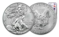 2018-W 1 Dollar 1-oz Burnished Silver Eagle NGC MS70 First Releases –Mercanti-Jones 2pc Set