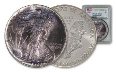 1986 $1 1-oz Silver Eagle Toned PCGS MS69 First Strike 81075930