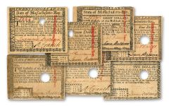 1780 Massachusetts Colonial Baldwin 7-Note Fine Currency Set