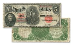 1907 Series $5 Woodchopper Currency Note XF
